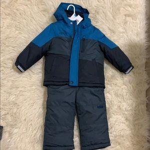 NWT OshKosh Blue Snowsuit Toddler Boy size 24 mo